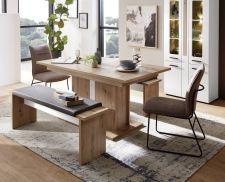 Obývací a jídelní nábytek LAMIA white _ jídelní stůl 20 J4 WH 01 + 2x lavice 20 J4 WH 03 _obr. 10