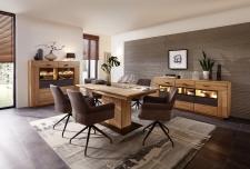 Obývací a jídelní nábytek LAUSANNE_jídelna_sideboard 21 + highboard 22 + jídelní stůl stůl 20 65 HH 01 (nerozložený) + 6x židle 2H 05 HH 70_obr. 6