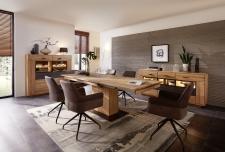 Obývací a jídelní nábytek LAUSANNE_jídelna_sideboard 21 + highboard 22 + jídelní stůl stůl 20 65 HH 01 (rozložený) + 6x židle 2H 05 HH 70_obr. 7