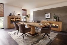 Obývací a jídelní nábytek LAUSANNE_jídelna_sideboard 21 + highboard 22 + jídelní stůl stůl 20 65 HH 01 (rozložený) + 6x židle 2H 05 HH 70_obr. 14