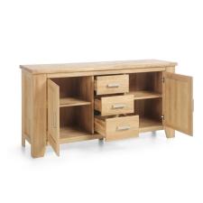 Masivní nábytek LOFT_sideboard typ 32_šikmý pohled_otevřený