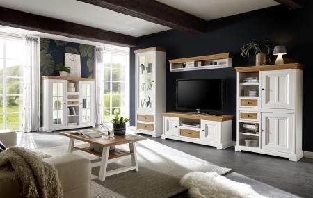 Obývací a jídelní nábytek PALLADIUM_obývací sestava 40 11 06 + highboard 48  + konferenční stůl 51 _LED osvětlení volitelné_obr. 3