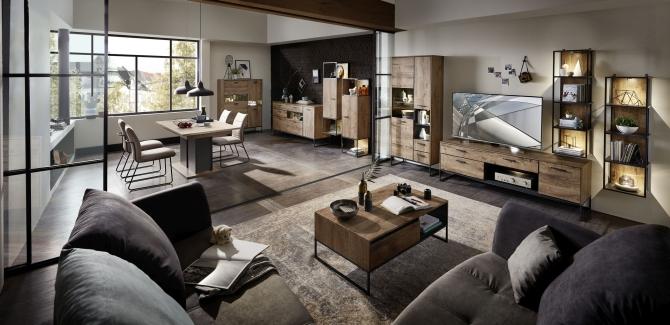 Obývací a jídelní nábytek RICHMOND_ukázka interierového řešení_obr. 1