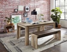 Jídelní stůl RIVER 20 H2 RR 01_160 cm_nerozložený + 2x lavice 03_obr. 7