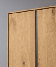 Obývací a jídelní nábytek VALERO_ přední plochy_ detail provedení dvířek_ obr. 20