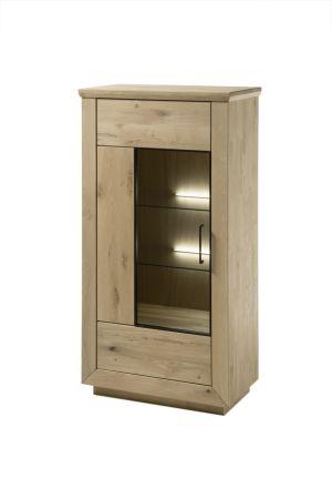 Vitrina nízká VALLETTA 03_otevírání dveří doleva_LED osvětlení jako volitelné příslušenství_obr. 9