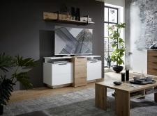 Obývací nábytek MOONLIGHT wh_alternativní TV sestava A_obr. 9