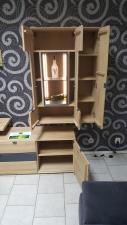 Obývací stěna AUCKLAND s LED osvětlením_detail_otevřená_obr. 3