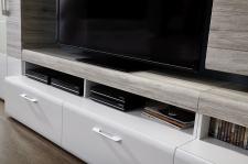 Obývací stěna SAVONA 1K 99 WH 80_ detail TV-spodního dílu_ obr. 6