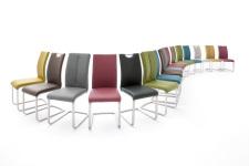 Jídelní židle PAMPA_barevné varianty_mix provedení_obr. 13