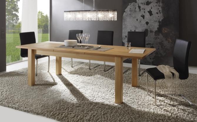 Jídelní stůl PONTO  1160.T71.85_ dub Bianco masiv-dýha, rozložený_s rozkládacím mechanismem 180 (240) cm_obr. 1