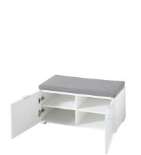 Předsíňový nábytek QUICK_ sedací lavice 30 A8 WW 60_ šikmý pohled_ otevřená_ obr. 17
