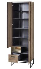 Předsíňový nábytek RICHMOND_ šatní skříň 60 08 VV 01_ šikmý pohled_ otevřená_ obr. 14