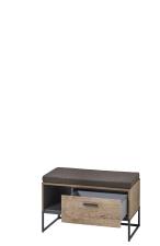 Předsíňový nábytek RICHMOND_ lavice 60 08 VV 60_ šikmý pohled_ otevřená_ obr. 31