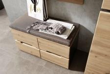 Předsíňový nábytek VANCOUVER_detail lavice se sedacím polštářem_obr. 6