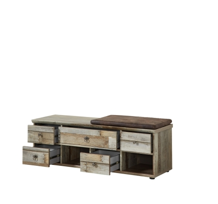 Předsíňový nábytek PROVENCE_lavice typ 61_otevřená_obr. 34