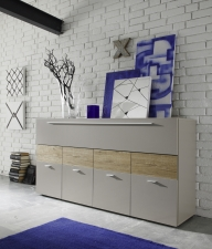 Obývací nábytek QUATTRO_sideboard 207242-08M_béžový matný melamin_dub natur imitace