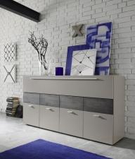 Obývací nábytek QUATTRO_sideboard 207242-08W_béžový matný melamin_dub wenge imitace