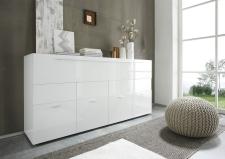 Obývací nábytek QUATTRO_sideboard 209042-08_bílý lak - pravý vysoký lesk