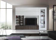 Obývací /TV stěna QUATTRO COMPACT 729042W_bílý lak / dub wenghe imitace_obr. 3