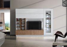 Obývací /TV stěna QUATTRO COMPACT 729042M_bílý lak / dub natur imitace_obr. 5
