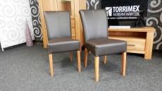 Jídelní židle QUEEN, čelní pohled_obr. 1