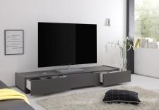 TV-element REX_anthrazit_3 zásuvky_otevřený