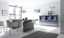 Obývací / jídelní nábytek REX_anthrazit-wenge_volná sestava elementů_jídelna_obr. 1