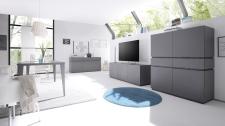 Obývací / jídelní nábytek REX_anthrazit-wenge_volná sestava elementů_jídelna + obývací pokoj_obr. 2