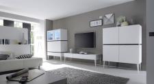 Obývací / jídelní nábytek REX_bílá-wenge_volná sestava elementů_obývací pokoj_obr. 2