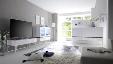 Obývací / jídelní nábytek REX_bílá-wenge_volná sestava elementů_obývací pokoj_obr. 3