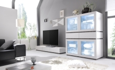 Obývací / jídelní nábytek REX_bílá-wenge_volná sestava elementů_obývací pokoj_obr. 4