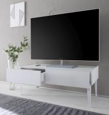 TV-element REX_bílý_2 zásuvky_otevřený