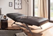 Relaxační lehátko RIMOLA s motorovým polohováním_v kůži Torero nero_obr. 3