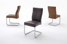 Jídelní židle RONALDO_odstíny barev koňak a tmavohnědá_obr. 2