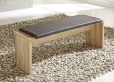 Jídelní lavice 29 26 BB 03_buk imitace_sedací polštář v šedé imitaci kůže_obr. 4