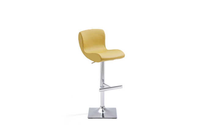 Barová židle SISI_čtvercová podnož_kari_obr. 1