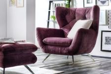 Křeslo SIXTY v látce Velvet purple