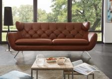 Sofa SIXTY 3ALR v látce Nature brown