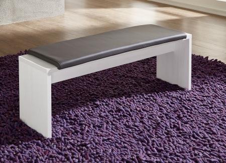 Jídelní lavice 29 26 UU 03_pinie světlá imitace_sedací polštář v šedé imitaci kůže_obr. 4