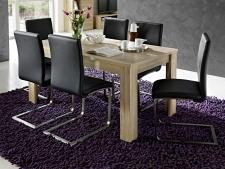 Rozkládací jídelní stůl typ 29 11 HH 01 (160 cm, nerozložený), dub San Remo světlý melamin v kombinaci s břidlice MDF_obr. 2