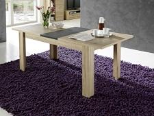Rozkládací jídelní stůl typ 29 11 HH 01 (rozložený na 200 cm), dub San Remo světlý melamin v kombinaci s břidlice MDF_obr. 4
