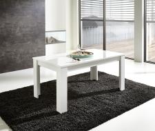 Rozkládací jídelní stůl typ 29 11 WR 01 (160 cm, nerozložený), bílý melamin v kombinaci s balkánským dubem MDF_obr. 3