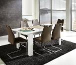 Rozkládací jídelní stůl typ 29 11 WW 01 (rozložený na 200 cm), bílý melamin v kombinaci s dub Sonoma světlý MDF_obr. 1