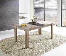 Rozkládací jídelní stůl typ 29 11 ZZ 01 (rozložený na 200 cm), dub San Remo tmavý melamin v kombinaci s břidlice MDF_obr. 2