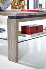 Konferenční stolek 29 11 ZZ 02_dub San Remo tmavý melamin/MDF_částečně břidlice MDF_detail