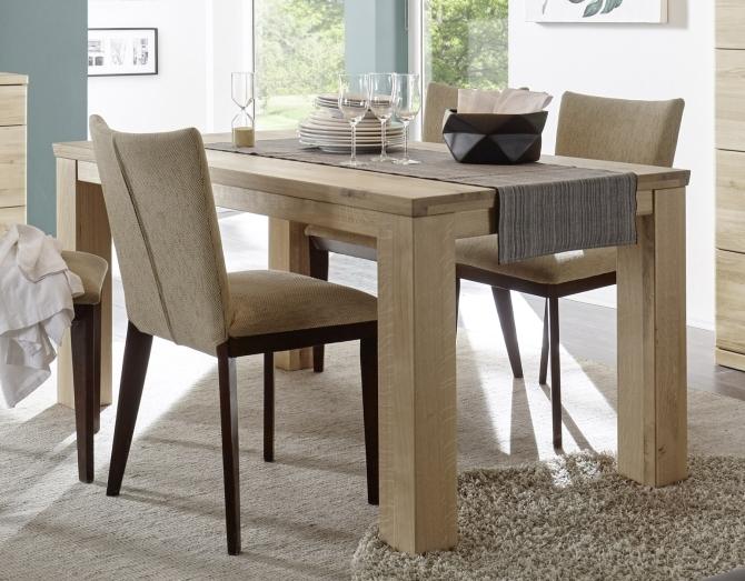 Jídelní stůl TERANO_dub Bianco masiv_obr. 1