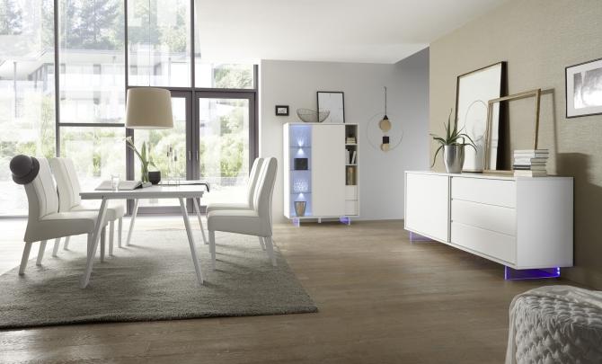 Obývací a jídelní nábytek TORINO_multikomoda_sideboard_jídelní stůl 180 cm, nohy z akrylového skla_obr. 8