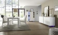 Obývací a jídelní nábytek TORINO_multikomoda_sideboard_jídelní stůl 180 cm s lemem, nohy z akrylového skla_obr. 10