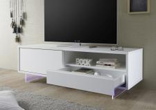 TV element TORINO_otevřená zásuvka_nohy z akrylového skla_obr. 26